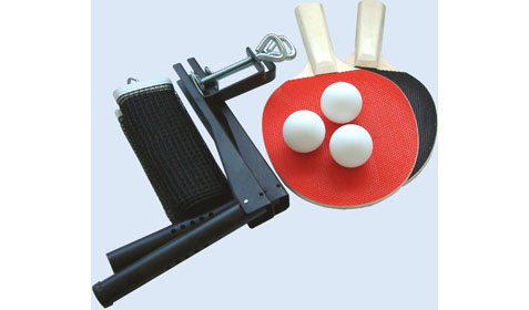 Table Tennis Net Bats and Ball